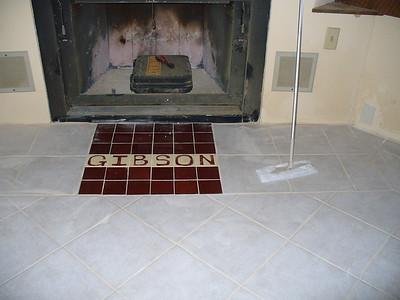 Finishing the fireplace area