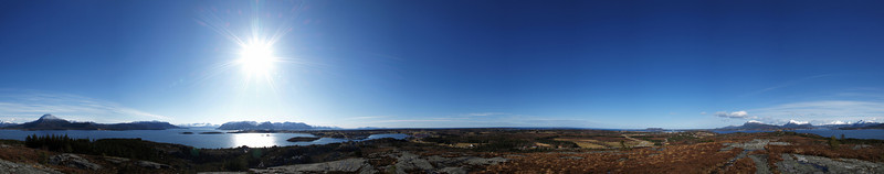 360° Panorama taken from my Island highest point; Jermannburet