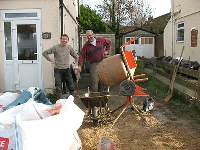 2008 Garage extension - Men at Work