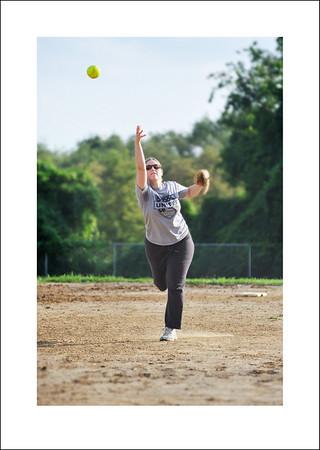 Cindy's soft ball game.