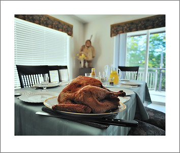 Turkey dinner at Maria's.  Raymen cooked the turkey.