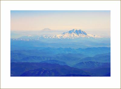Mt. Ranier and Mt. St. Hellens