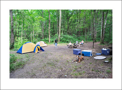 Our camp site at Key Stone park.
