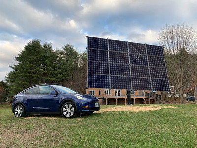 The Tesla can now be charged by Solar power.