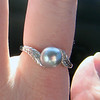 I got a lovely silver pearl ring~