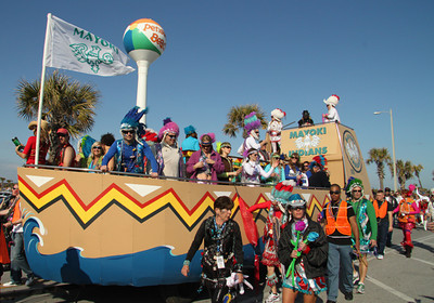 Marti Gras float