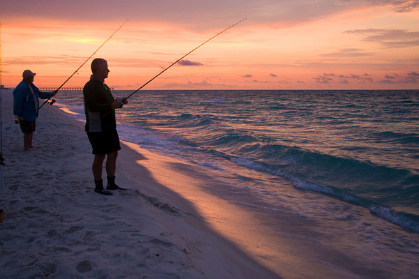 anglers out before dawn