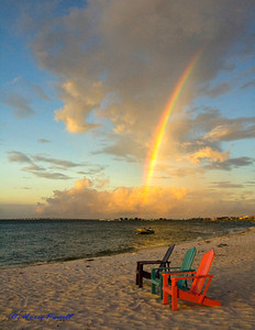 rainbow at the beach