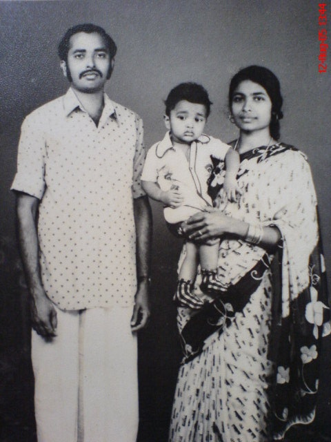 Me, Baiju in my early childhood  with my sweet parents Mr. P.J. Joseph and N.T. Mary