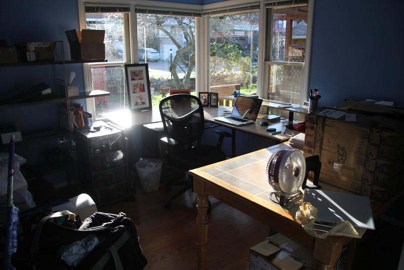 """Amy's """"old"""" office getting ready to pack up."""