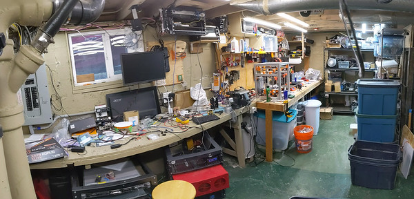 "this is basically the ""before"" of my servers and 3D printers workbench."