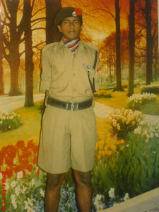 Biju in his NCC Unifrom