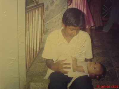 Biju with a child