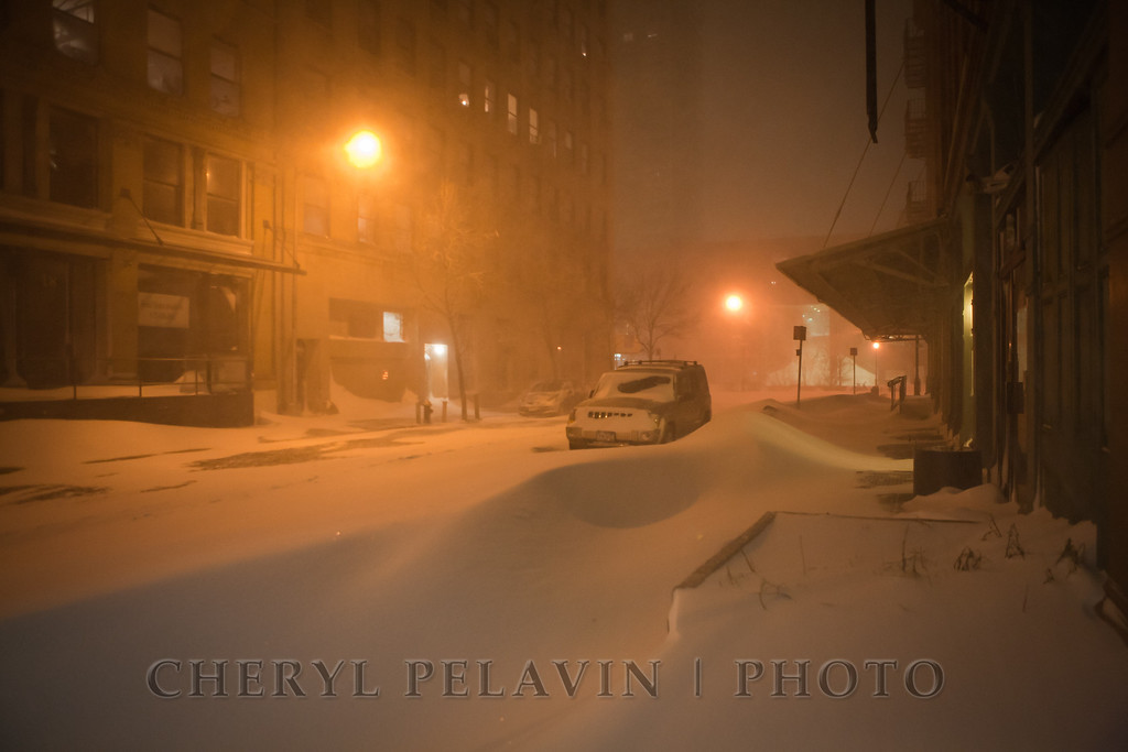 Blizzard on Jay Street, NYC