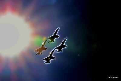 crossing the sun