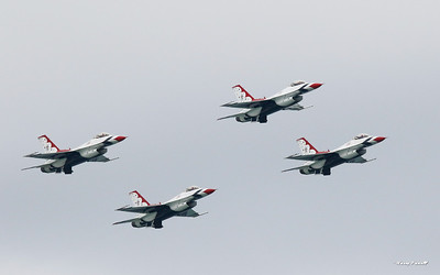 Air Force Thunderbirds here to honor the Blue Angels