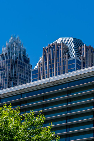 Bank of America & Hearst Tower behind ImaginON