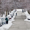 Title: Digging Out<br /> Date: March 2009<br /> Cheverly Residents along Park Way dig out after a snow storm.