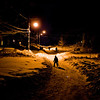 Title: Cheverly's Black Diamond<br /> Date: February 2010<br /> Some kids snowboard down Euclid Street, the steepest hill in Cheverly, after the first of two massive snowstorms in February of 2010.