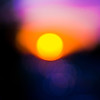 Title: Abstract Sunset<br /> Date: October 2009<br /> A sunset along MD Route 50. The lens was deliberately taken out of focus to get the abstract look.