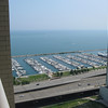 This is the view from our patio looking West, and a bit South.  That is Lake Shore drive in the foreground.