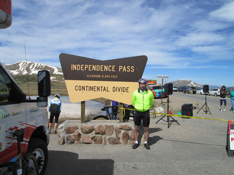 Atop Independence Pass, proof that I was there.