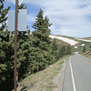 Both where we came from, and if you look above and the riders, you see where we are going, about 1.5 miles from the summit