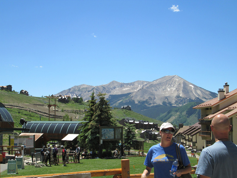 At the ski hill at Mount Crested Butte, which is different than Crested Butte, on my day off, went for a hike up the ski slopes