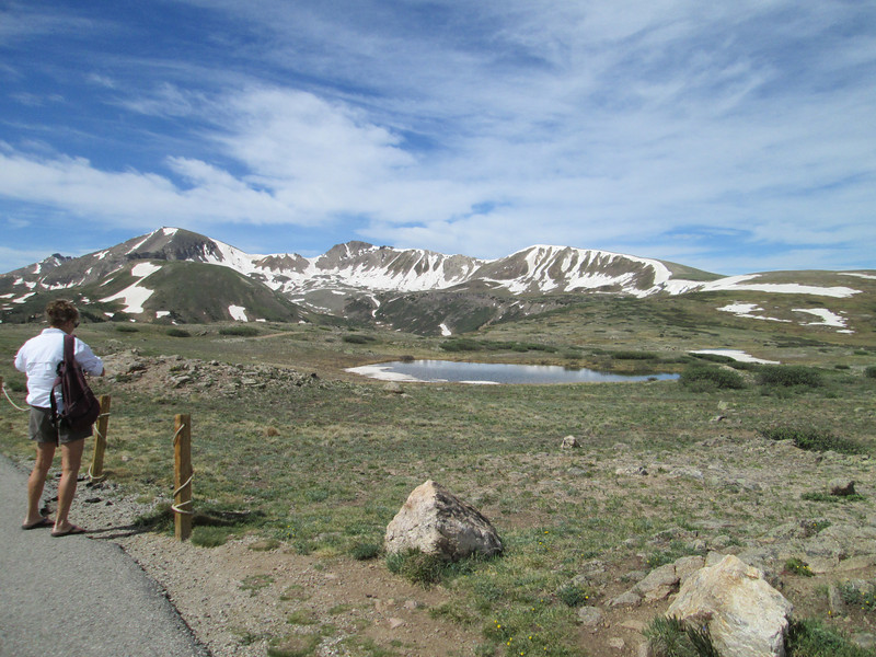 Atop Independence Pass, I wonder what the temperature is of that water, still has ice on it