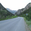 The road we started on for Day 3, through this canyon, very pretty.  Day 3 went from Carbondale to Paonia