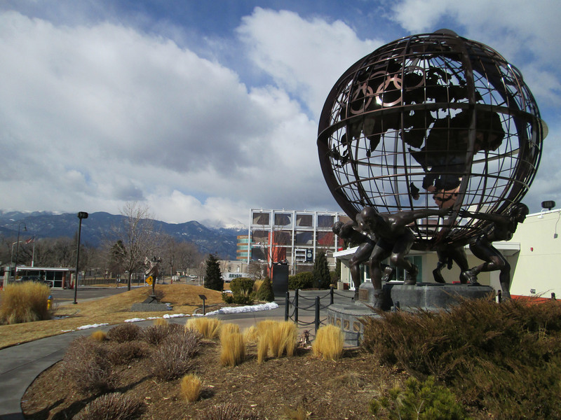 Olympic Training Center: with Pikes Peak in the background