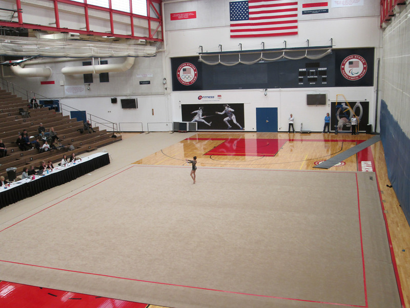 Olympic Training Center: some big gym, rhythm gymnastics here