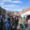 Cripple Creek Ice Festival: busy, and it was early, people kept coming.