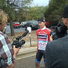 Tom Danielson, Friday's leader in the KOM