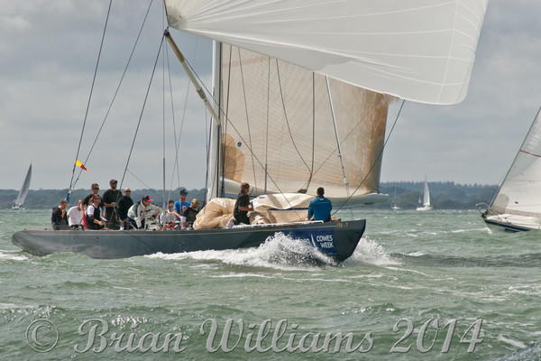 """Italia"" ITA 7 racing at Cowes Week 2014"
