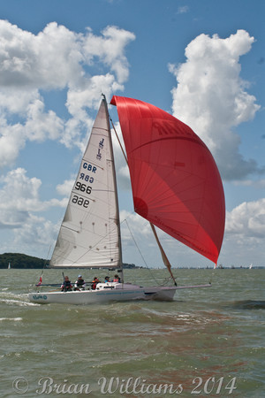 "J/80 ""Wairua"" GBR966 racing at Cowes Week 2014"