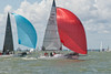 "Sports Boats ""Akarana 3"" GBR1736L & ""Midnight Cowboy"" GBR1717 racing at Cowes Week 2014"