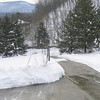 Shovelled, but icy driveway