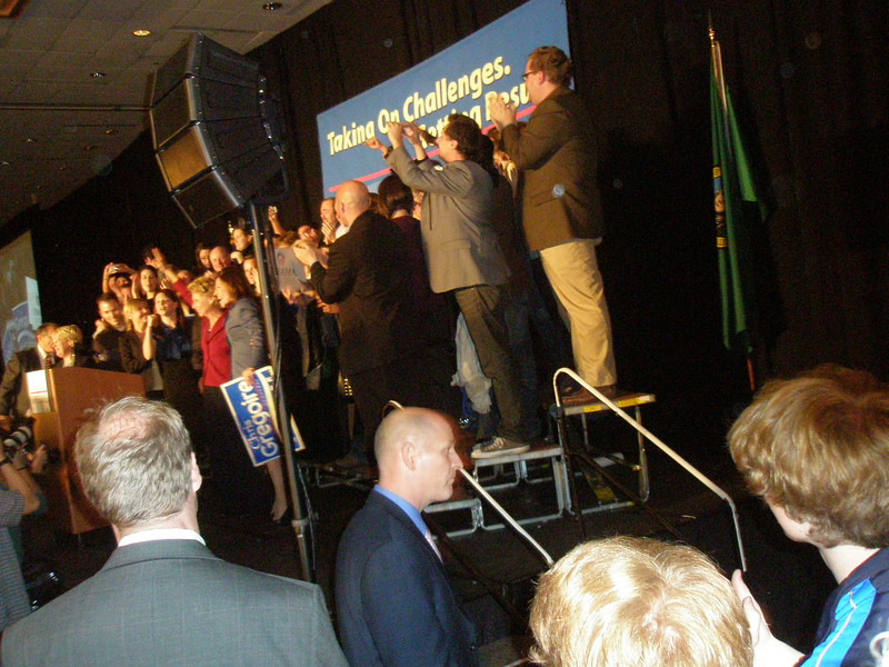 Governor Gregoire and supporters
