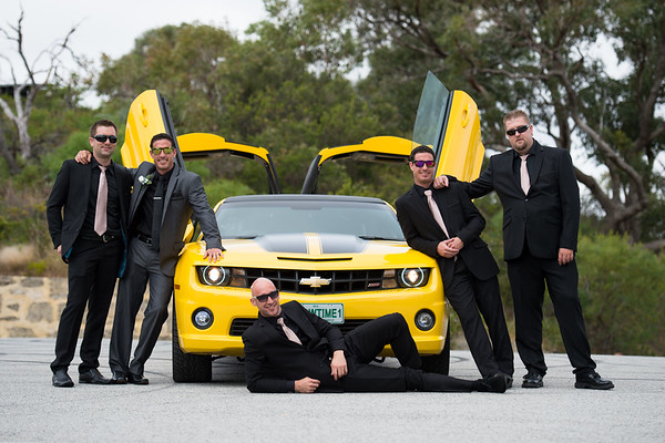 bumblebee limo perth wedding