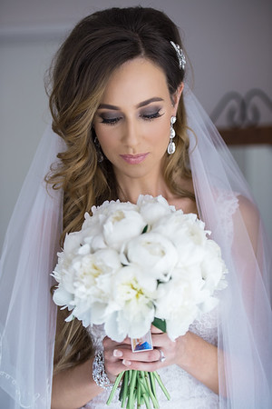Bride getting ready images