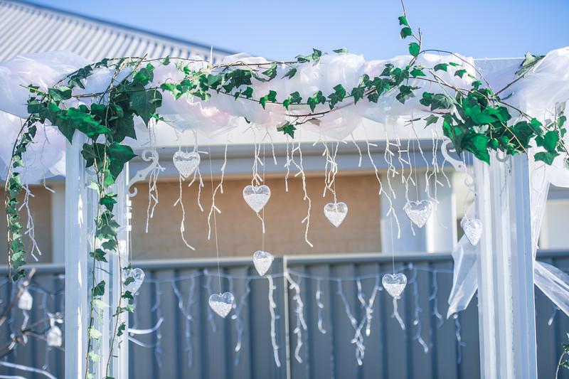 Beautiful Backyard wedding setup