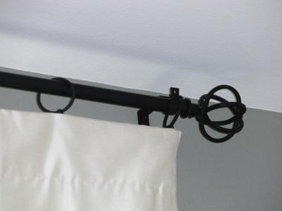 Office room rod hardware details