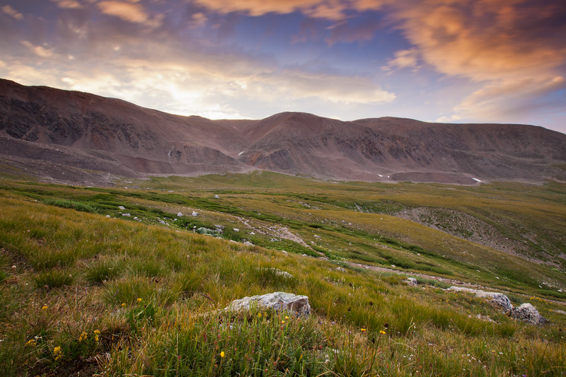 """Early Tundra""<br /> <br /> Mt. Bross at sunrise"