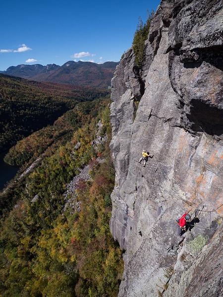 Climbers High Above Chapel Pass