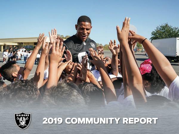 2019 COMMUNITY REPORT, Oakland Raiders