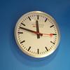 Mondaine clock. The Swiss railway is stylish!