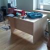 Joel is building himself a desk. It looks really good so far.