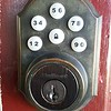 Key less combination lock.  Automatically lock after a few second once close