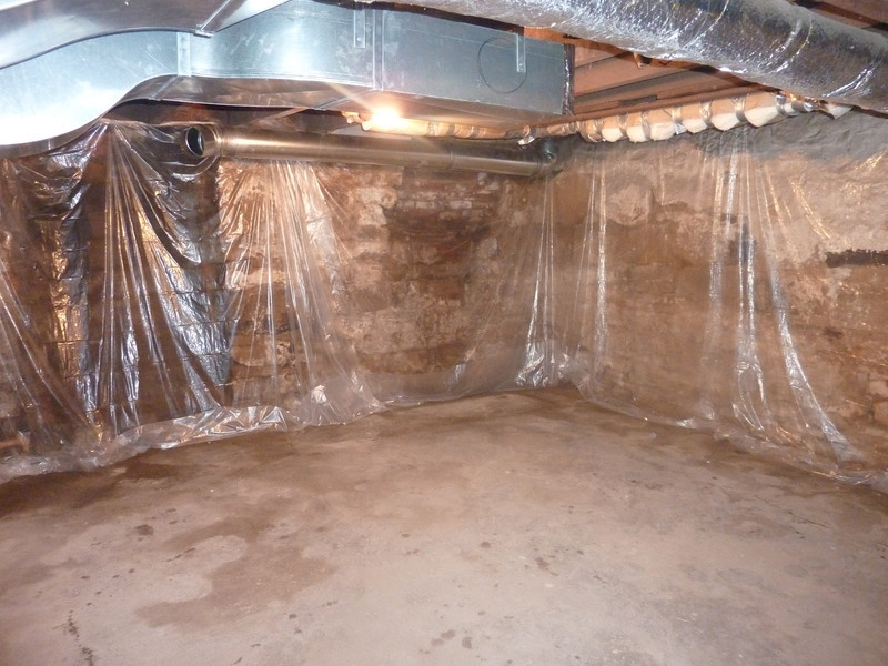 Basement ready for new stairs...notice the a/c ductwork by yours & Kitchen Remodel - teamlaplante